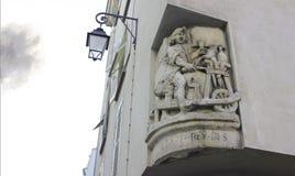 Building facade sculpture, Paris, France Stock Photos