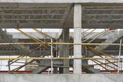Building facade under construction. Concrete structure. Architec Stock Image