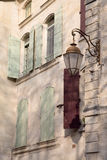 Building Facade, Uzes; Provence; France. Building Facade in Uzes; Provence; France; Europe Stock Image