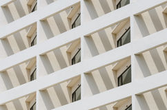 Building facade with window in angle Royalty Free Stock Photos