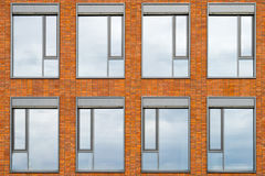 Building facade with 8 windows royalty free stock photography