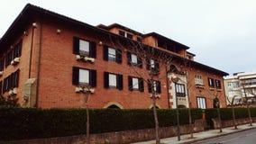 Building Facade Zarauz San Sebastian Spain. Architecture at Zarautz San Sebastian Basque Country Spain Stock Photos