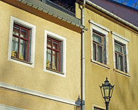 Building facades in Annaberg-Buchholz Germany Royalty Free Stock Photography