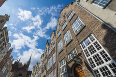 Building facades on Mariacka Gdansk Stock Image