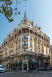 Building facades in Paris royalty free stock photo