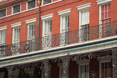Building face, New Orleans. French Quarter building, New Orleans Stock Photography