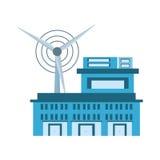 building factory wind turbine clean energy Stock Photos