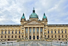 Building of Federal Administrative Court in Leipzig, Germany Stock Photo