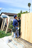 Building a Fence Stock Photos