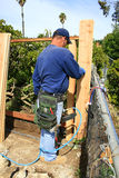 Building a Fence Stock Photo