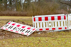 Building fences in the park with anarchy signs. Some Building fences in the park with anarchy signs Royalty Free Stock Image