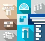 Building, finishing materials, repair, flat illustration, icons. Stock Photos