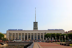 Building of Finland railway station in St. Petersburg Royalty Free Stock Image