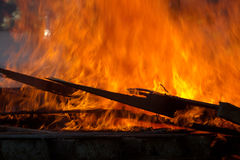 Building Fire Royalty Free Stock Photo