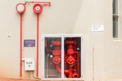 Building Fire Sprinkler Stop Valves Stock Images