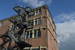 Building with fire stairs Stock Images