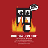 Building On Fire royalty free illustration