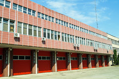Building of the firefighter station Royalty Free Stock Photos