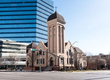 First Methodist Episcopal Church in Salt Lake City royalty free stock images