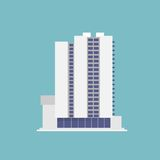 Building flat icons design vector shadow color Royalty Free Stock Images