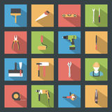 Building flat icons set Royalty Free Stock Images