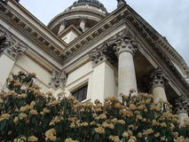 The building with flowers Stock Images