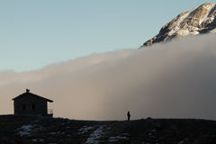Building, Fog, Summit, and Man Royalty Free Stock Image