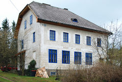 Building of a former elementary school. Building of the former elementary school at the village of Saint Wolfgang, Forest-quarter, Austria Royalty Free Stock Photos