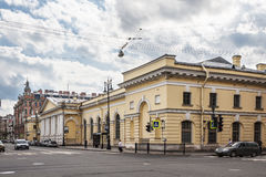 The building of the former Manege Cavalry Regiment on the Potemkin Street in St. Petersburg Royalty Free Stock Photo