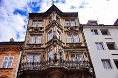 Old heritage building in Bratislava, Slovakia. The building of the former Salvator's Pharmacy, a protected monument, Panská str. 35 royalty free stock photo