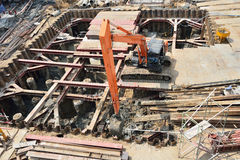Building foundation under construction Stock Photography