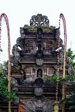 Building fragment in authentic style. Ancient architecture of Indonesia. Sights of Bali stock image