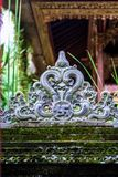 Building fragment in authentic style. Ancient architecture of Indonesia. Sights of Bali stock photos