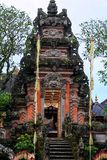 Building fragment in authentic style. Ancient architecture of Indonesia. Sights of Bali stock photography