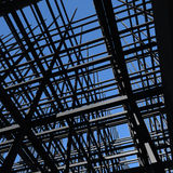Building Frame. Building light frame infrastructure upward view point Stock Images