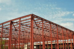 Building frame under construction Royalty Free Stock Images