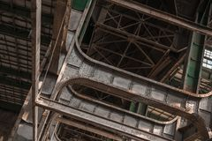 Building frame inside industrial architecture Royalty Free Stock Photo