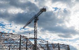 Building framework and tower crane Stock Images