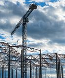 Building framework and tower crane Royalty Free Stock Photo
