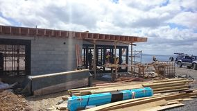 Building. Framing building studs nogs bems stock image
