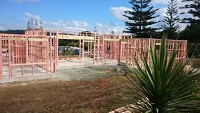 Building. Framing building studs nogs bems stock photography
