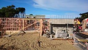 Building. Framing building studs nogs bems stock images