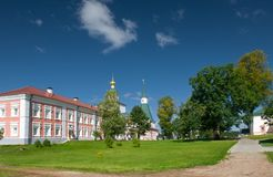 Building Fraternal cells. XVII-XVIII centuries. Valday Iversky Monastery in Valdai, Russia royalty free stock images