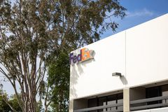 FedEx building sign royalty free stock photography