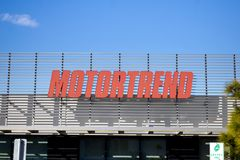 Motor Trend building sign royalty free stock images