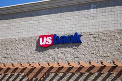 US Bank building sign royalty free stock images