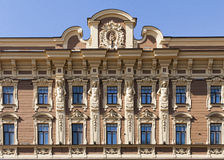 Building frontage. Symmetrical Building frontage in Russia royalty free stock photos