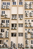 Building full of aircon units Royalty Free Stock Photography