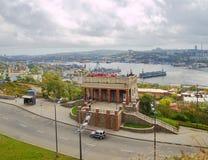The building of the funicular. Vladivostok. Stock Photo