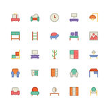 Building & Furniture Vector Icon 7. Take a trip back in time and decorate with this new Buildings and Furniture Pack You will love using the icon pack for your Royalty Free Stock Image